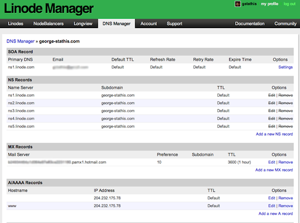 Linode DNS Manager